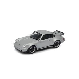 Welly - Porsche 911 Turbo model 1:34 stříbrné