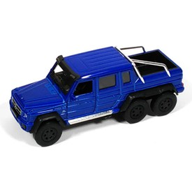 Welly - Mercedes-Benz G63 AMG 6x6 model 1:34 modrý