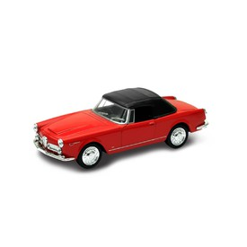 Welly - Alfa Romeo Spider 2600 (1960) model 1:34 červený