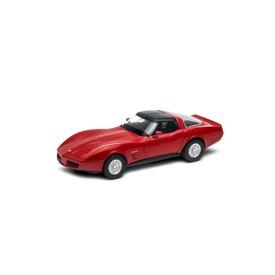 Welly - Chevrolet Corvette Coupe (1982) model 1:34 červený