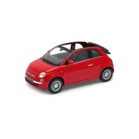 Welly - Fiat 500C (2010) model 1:34 červený