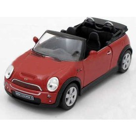 Welly - Mini Cooper S Cabrio model 1:34 červený