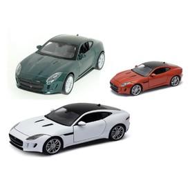 Welly - Jaguar F-Type Coupe model 1:34 tmavě oranžová