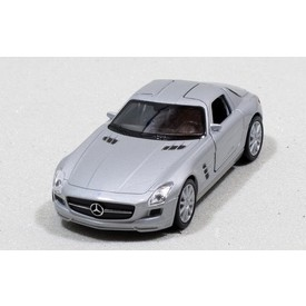 Welly - Mercedes-Benz SLS AMG model 1:34 stříbrný