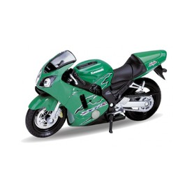 Welly - Motocykl Kawasaki Ninja ZX-12R (2001) model 1:18 zelená