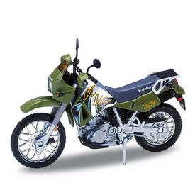 Welly - Motocykl Kawasaki KLR650 (2002) model 1:18 zelená