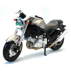 Welly - Motocykl Cagiva Raptor 1000 model 1:18 stříbrný