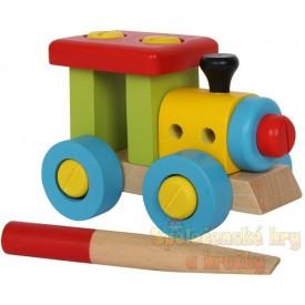 Dřevěný konstrukční vlak