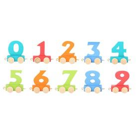 Legler Vagónek dřevěné vláčkodráhy - barevné číslice - 1 ks