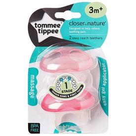 TOMMEE TIPPEE Kousátko pro citlivé dásně a první zoubky C2N růžové