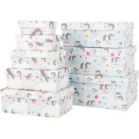 Dárkové krabičky Unicorn 8 ks