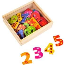 Dřevěnébarevné magnetické číslice 40ks