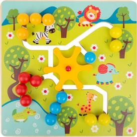 Dřevěné posuvné puzzle Savana