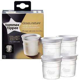 TOMMEE TIPPEE Nádobky na skladování mateřského mléka C2N 4 ks