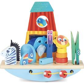 Vilac - Dřevěná balanční hračka - Archa