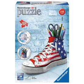 Ravensburger puzzle 3D Kecka vlajkový design 108 dílků