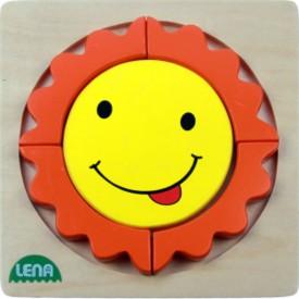 LENA - Dřevěné puzzle - Sluníčko