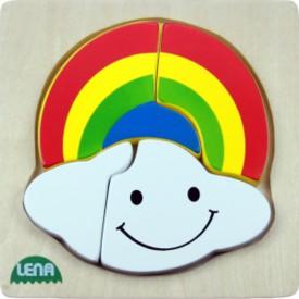 LENA - Dřevěné puzzle - Duha