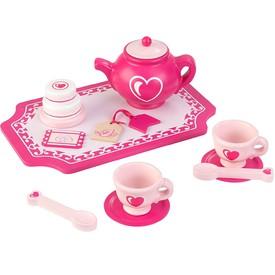 Čajová souprava růžová srdíčko