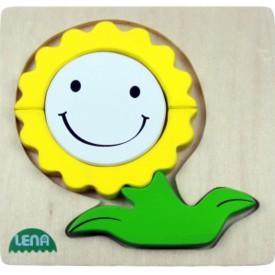 LENA - Dřevěné puzzle - Květinka