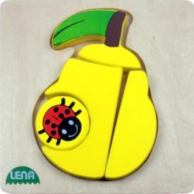 LENA - Dřevěné puzzle - Hruška