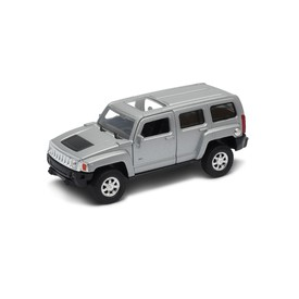 Welly -  Hummer H3 model 1:34 stříbrný