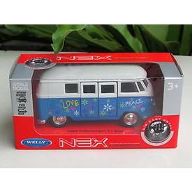 Welly - Volkswagen T1 Bus (1963) model 1:34 modrý love