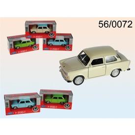 Welly - Trabant 601 1:34 s bílou střechou červená