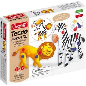 Quercetti Tecno Puzzle 3D - lev a zebra