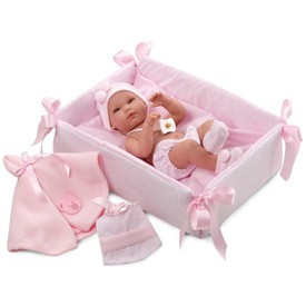 Llorens New Born holčička s doplňky 63530