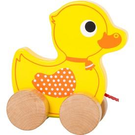 Dřevěná tahací kačenka