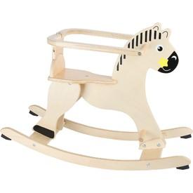 Dřevěný houpací kůň s ochrannou opěrkou