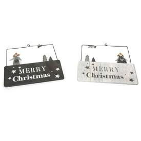 Vánoční cedulka Merry Christmas 2 ks