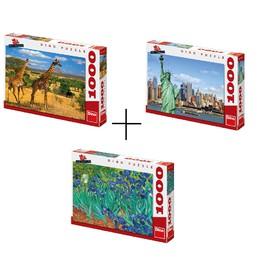Dino 8013 výhodný balíček 3 kusů Puzzle celkem 3000dílků