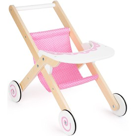 Dřevěný sportovní kočárek pro panenku Dream