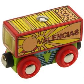 Dřevěná vláčkodráha Bigjigs - Vagónek s ovocem