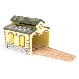 Dřevěná vláčkodráha - Nádražní depo 2 díly