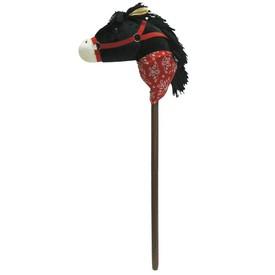 Koňská hlava černá, plyš dřevo