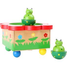 Dřevěná hrací skříňka - Žabka