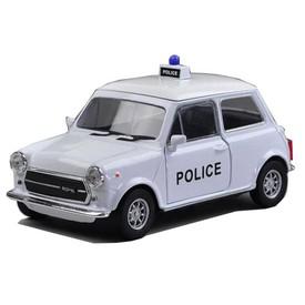 Welly - Mini Cooper 1300 model 1:43 policie bílé