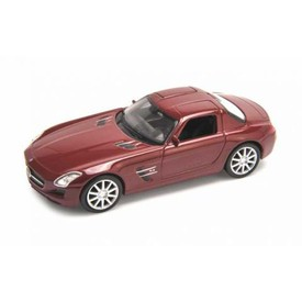 Welly - Mercedes Benz SLS AMG  model 1:43 červené