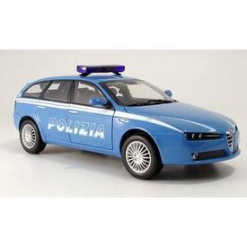 Welly - Alfa 159 Sportwagon model 1:43 policie modré