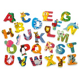 Dřevěná abecedy 1ks - písmenko X
