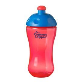 TOMMEE TIPPEE Sportovní láhev 300 ml Basic růžová