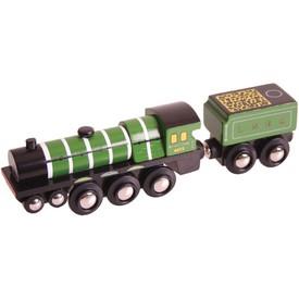 Bigjigs rail dřevěná replika - Lokomotiva Flying Scotsman