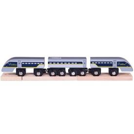 Vláček Bigjigs Rail Rychlík Eurostar E320 + 3 koleje