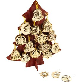 Vánoční dekorace - Display Dřevěné ozdoby