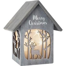 Vánoční dřevěná lucerna Sob