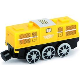 Vláček k vláčkodráze - elektrická lokomotiva žlutá