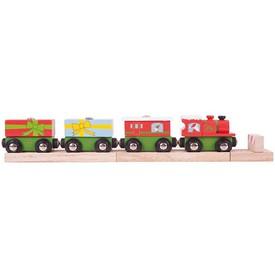 Bigjigs Rail vláčkodráhy - Vánoční vláček + 3 koleje